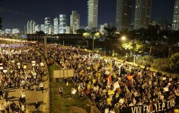 Landless and homeless march in Sao Paulo