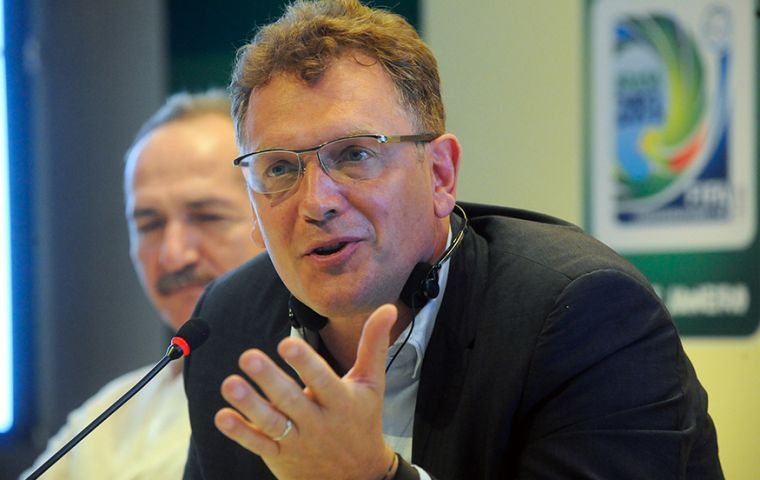"FIFA's Valcke dismissed media headlines ""screaming that Brazilians don't want the World Cup""."