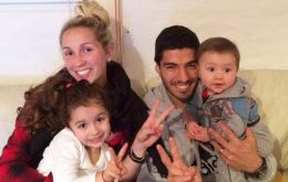 The striker at home with his family replying all the support messages