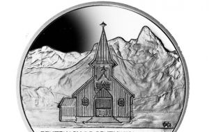 Another coin commemorates the centenary of the Grytviken Church
