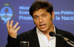 Kicillof, the 'wonder economics boy' of the Cristina Fernandez team is scheduled to meet creditors on Wednesday