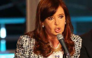"""The financing means funds for infrastructure, development, technology and for the future of all Argentines"""