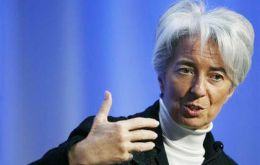 """The IMF certainly hopes that it will improve the situation of Argentina on the international scene"" said Lagarde"