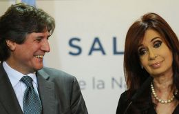 Boudou and Cristina, back in 2011 and following victory, good close friends but not so much nowadays