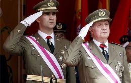 The King and Prince of Asturias attended a military parade