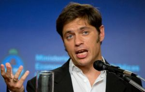 "Axel Kicillof said he sees ""many optimistic signals for the second quarter and even next year"" for an ending to economic recession"