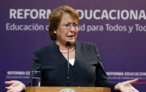 President Bachelet said she understands students' impatience, but the reform bills need time