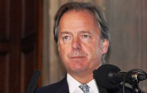 Minister of State with responsibility for Falklands affairs and Latin America, Mr Hugo Swire (Photo Peter Pepper)