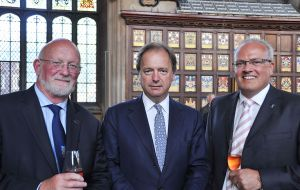 FIA Chairman Alan Huckle, Mr. Hugo Swire and FIA Vice-Chairman Saul Pitaluga (Pic by Peter Pepper)