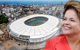 """The pessimists... have been defeated by the hard work and determination of the Brazilian people, who never give up,"" said Dilma"