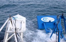 The system works with uniquely shaped buoys to capture and convert wave energy into low cost clean electricity