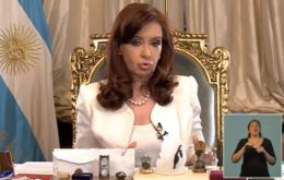 """We want to fulfill and honor our debt, and we will do that"" said Cristina Fernandez."