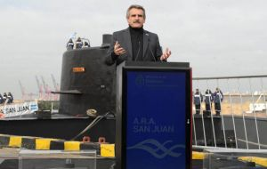 Minister Rossi called the re-delivery an important milestone for Argentina, as the state had lost its ability to repair submarines
