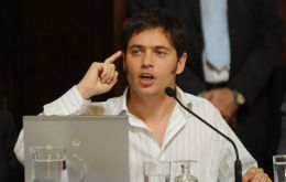 Kicillof's ministry made the announcement late Wednesday which means an imminent 'technical default'