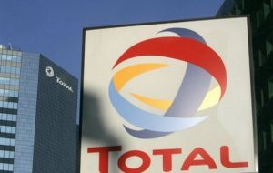 Total is scheduled to drill its first deep-water wildcat in the latter part of 2015.