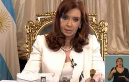 President Cristina Fernandez rhetoric and defiant speeches are immediately reported to Judge Griesa