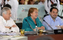Bachelet addressing at the Alliance summit