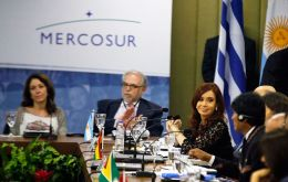 "Mercosur heads of state expressed their ""most absolute rejection to the attitude of the holdouts"