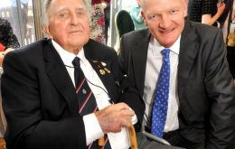 George James one of the last survivors of Operation Tabarin (wheelchair) is  joined by Minister Willetts
