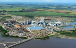 The complex includes the pulp mill, a harbor and a biomass power plant