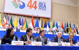 The idea is for a strong statement from OAS in support of Argentina in its ongoing litigation