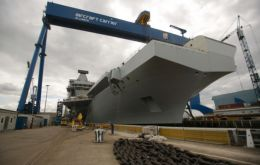 There are now more than 55,000 tons of HMS Queen Elizabeth in the dock at Rosyth