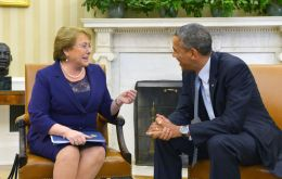 """The US is our, I would say, our most important foreign investor. We want to continue that path"" said Bachelet"