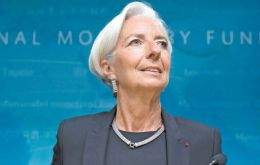 "Lagarde said that the IMF did not expect a ""brutal"" slowdown in China, a market crucial for Latin America"