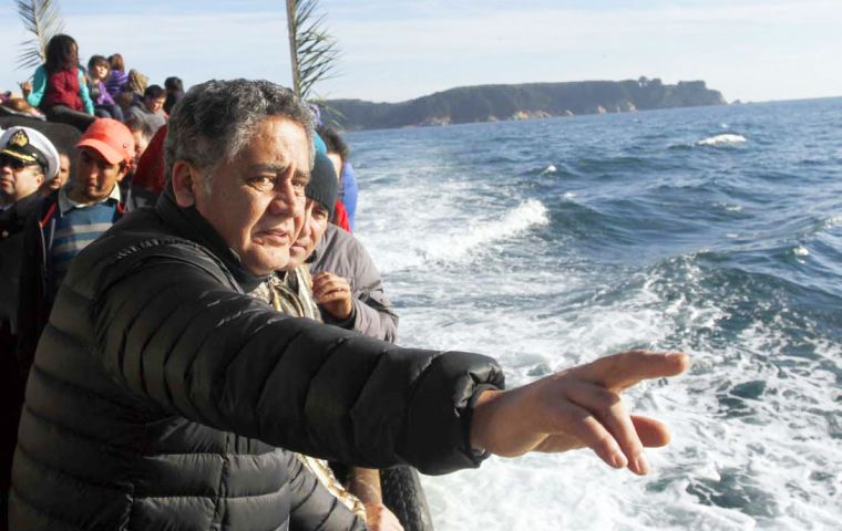 Chilean fisheries official Raul Sunico said the government is committed to the 80% catch for artisanal fishermen
