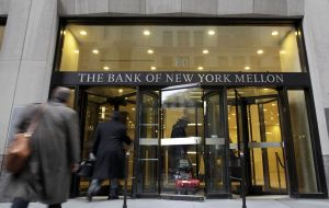 """The trustee has significant concerns regarding the plaintiff's order to return the funds to Argentina"", said lawyer for New York Mellon bank"