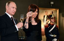 The Russian president on a Latin American tour spent one day in Argentina where several agreements were signed