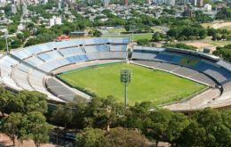 The Centenario stadium where the first world Cup was played and won by Uruguay 4-2 against Argentina