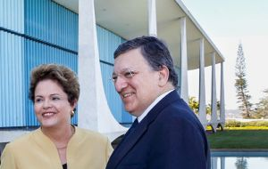 Portugal born Barroso who in August steps down, met with Dilma Rousseff