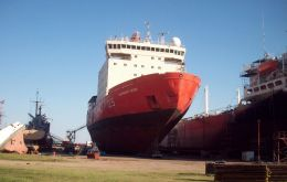 The icebreaker Irizar caught fire in 2007 and is still in dry dock