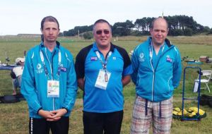 Full Bore Rifle team: Derek Goodwin, team manager; Derek Pettersson and Gareth Goodwin.