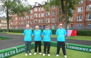 Lawn bowls team: Gerald Reive, Barry Ford, Patrick Morrison and Michael Reive. (George Paice absent from photo).
