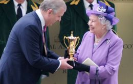 The Queen celebrating Estimate Gold Cup success Royal Ascot last year