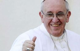The Giacobbe & Associates poll has Pope Francis in position 1, Mujica, 11 and Cristina, 38.