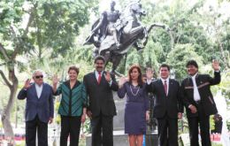 The official 'family' picture of Mercosur leaders. Argentina now holds the rotating six-month chair