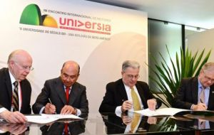 "The tripartite agreement is aimed at fostering academic and cultural integration along the ""Latin American knowledge highway"""