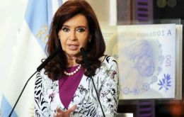 """The US has to be responsible for its justice. We hope to settle this case in an international court"" said Cristina Fernandez"