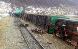 In Ushuaia even the tourist train was blown over
