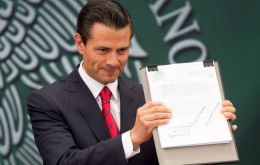 """This represents a historic change that will accelerate the economic growth and development of Mexico in the coming years,"" said Peña Nieto"