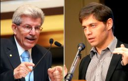 The market fears that central bank president Fabrega might have lost the battle with Kicillof (R)