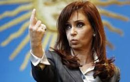 """We are facing a real case of fraudulent behavior and an attempt to intimidate the population,"" said Cristina Fernandez in a speech at Government House."