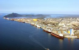 Santos is one of the country's busiest ports with long queues at times of harvest