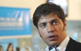 Kicillof is expected in Brazil to meet with his peer Mantega and Industry minister Burgos.