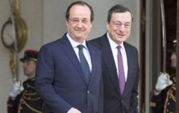 "The two men, who met on Monday in Paris for talks, share the same ""worry about growth and inflation"" in Europe"