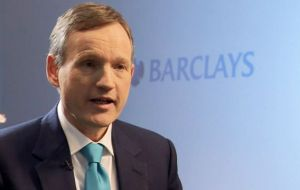 """We remain on track to rebalance Barclays as part of our strategy to deliver sustainable returns for our shareholders"", said CEO Jenkins"