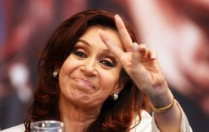 """A world where two or three billionaires can put pressure on the justice system to try and collect usurious gains is not sustainable"" said the Argentine president"